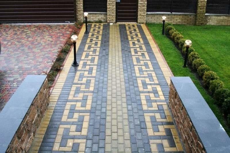 Укладка тротуарной плитки дизайн